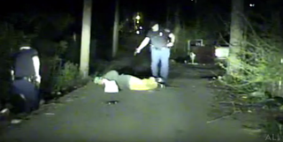 Video footage shows Birmingham, Ala., Police Officer Daniel Aguirre firing his weapon at suspect Aubrey Williams, who he claimed pointed a gun at him.YouTube