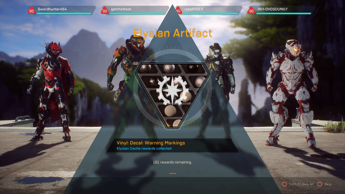 Anthem's Latest Update Removes Special Loot Chests