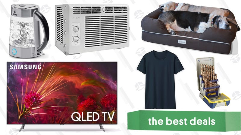 Illustration for article titled Saturday's Best Deals: QLED 4K TVs, Uniqlo Basics Sale, Air Conditioners, and More