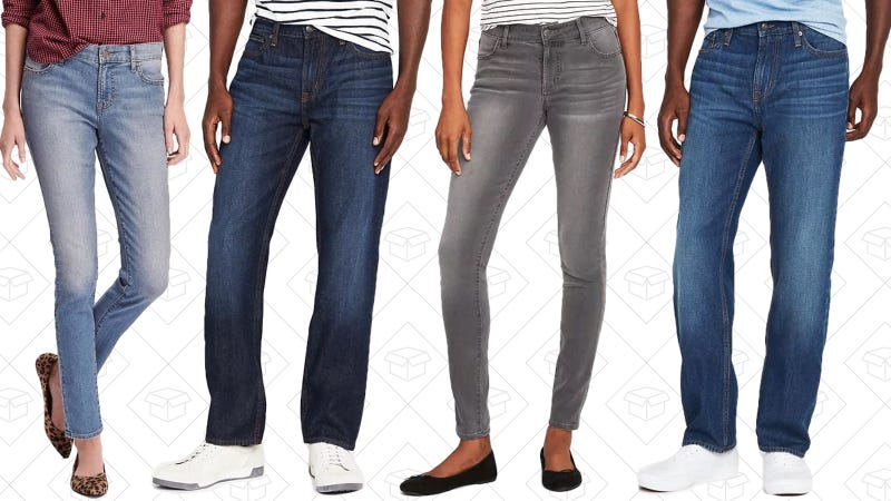 Select jeans for men and women | $15 | Old Navy