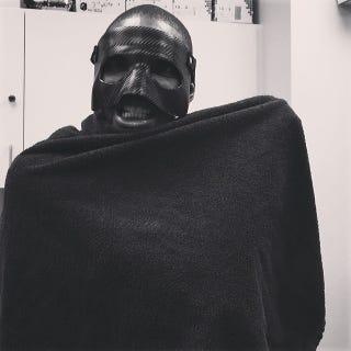 Illustration for article titled Chris Bosh Takes LeBron's Mask, Becomes Boshman