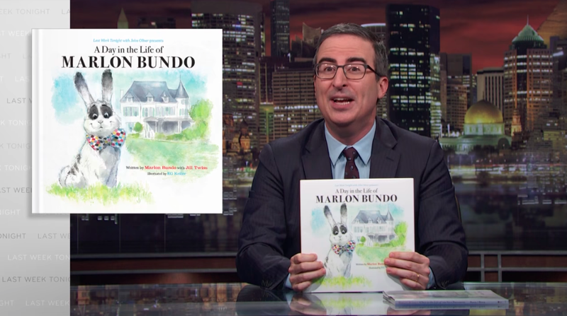 Illustration for article titled John Oliver's bunny book is handily outselling the Pence bunny book