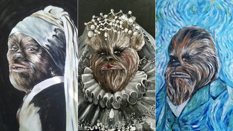 Illustration for article titled Chewbacca Is Beautiful As The Wookiee With The Pearl Earring (And More)