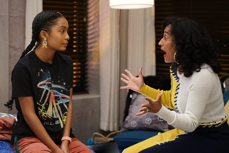 Yara Shahidi and Tracee Elliis Ross in the Jan. 31 episode of Grown-ish on Freeform (Eric McCandless via Getty Images)