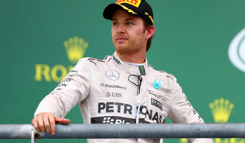 Illustration for article titled F1's Nico Rosberg Blames United States Grand Prix Loss On Gust Of Wind