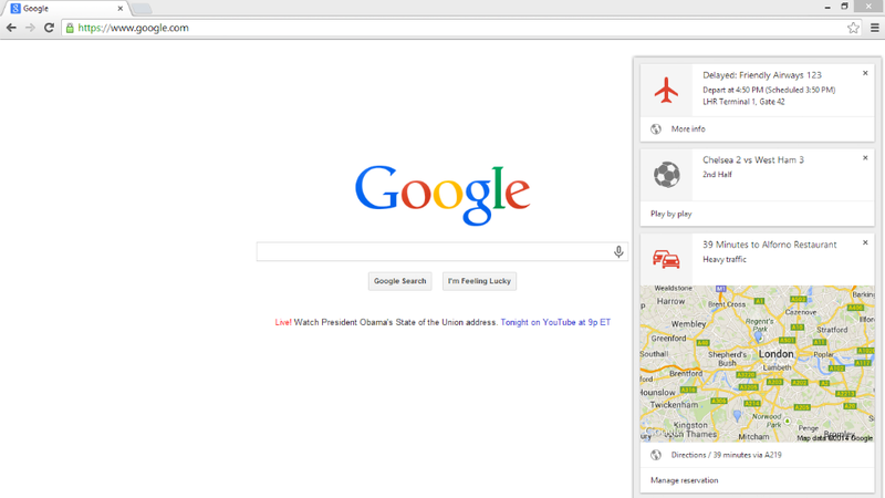 Illustration for article titled Google Now in New Chrome Beta