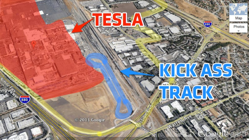 Illustration for article titled Tesla Just Bought A Test Track Next To Their Factory