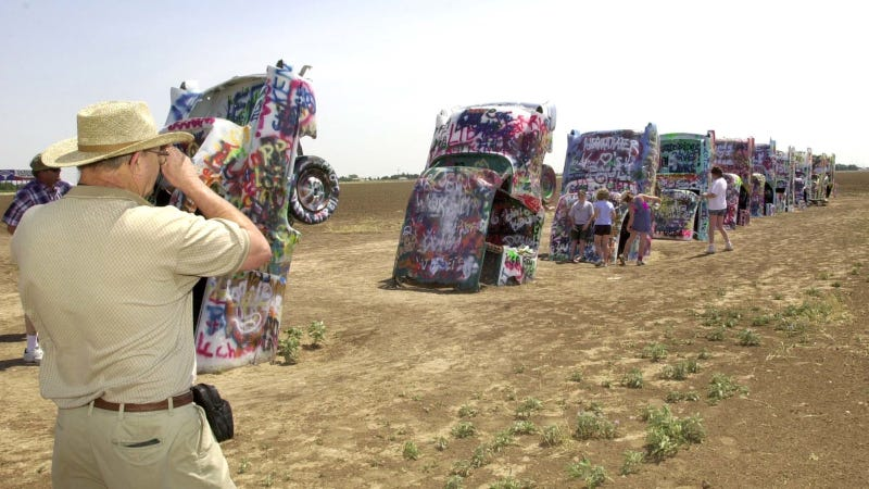 Illustration for article titled Texas' Cadillac Ranch Attraction May Get Scrapped Amid Child Sex Abuse Scandal