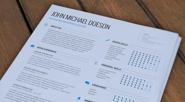 Resume - Magazine cover
