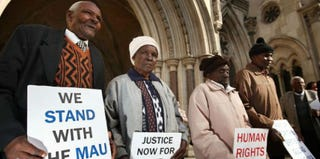 Kenyans Wambugu Wa Nyingi, Jane Muthoni, Paulo Nzili and Ndiku Mutua (Getty Images)