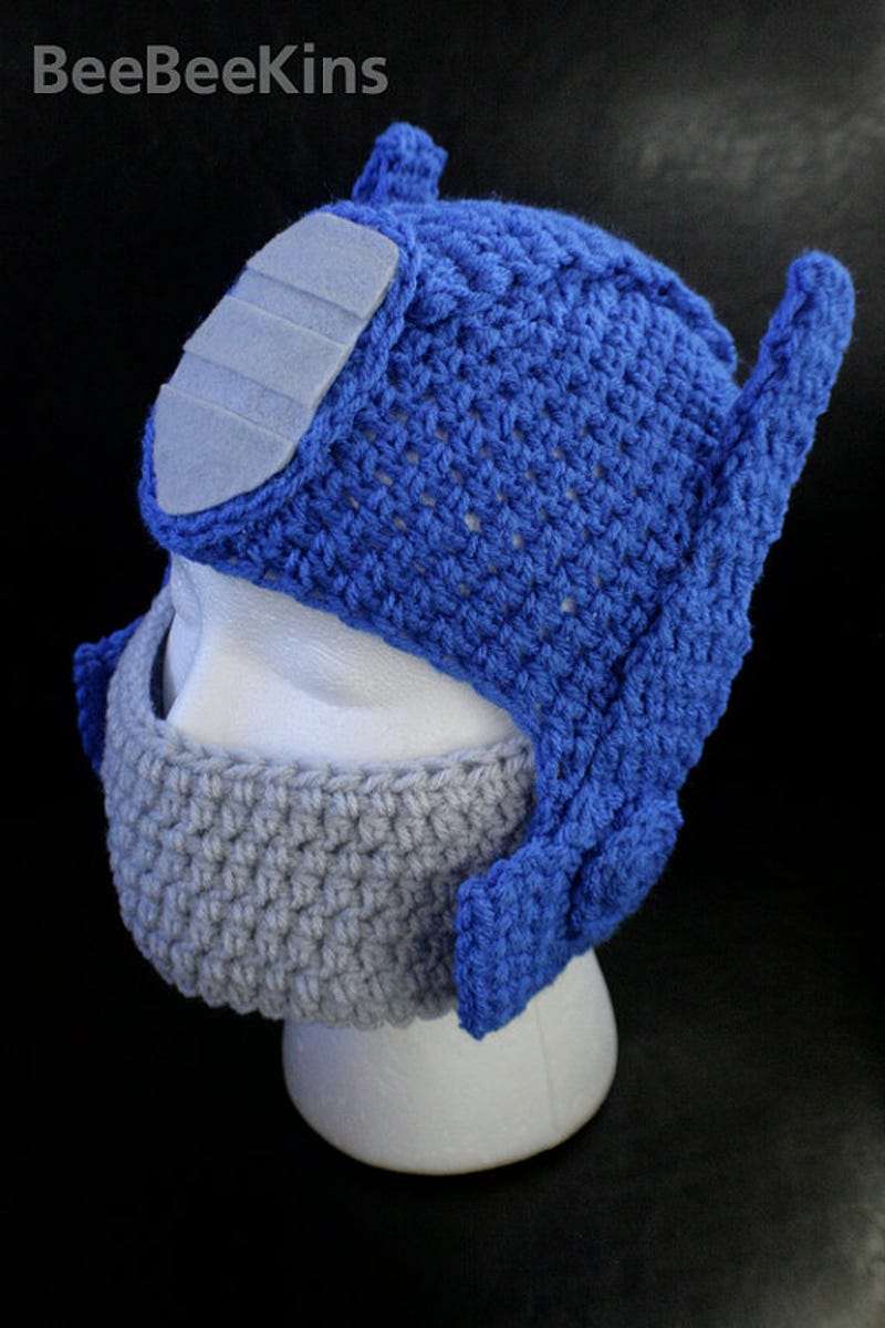 Transformers crocheted cap makes you a human in disguise bankloansurffo Gallery