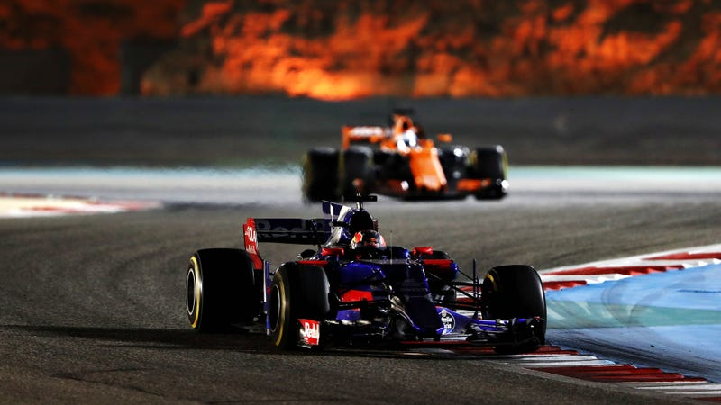 The horror is behind. Lurking. You know not what horrors the Honda engine is capable, only that it will blow. Photo credit: Mark Thompson/Getty Images