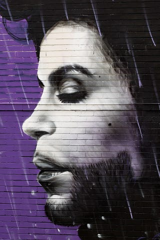 A view of a Prince mural in Sydney on April 28, 2016Brendon Thorne/Getty Images