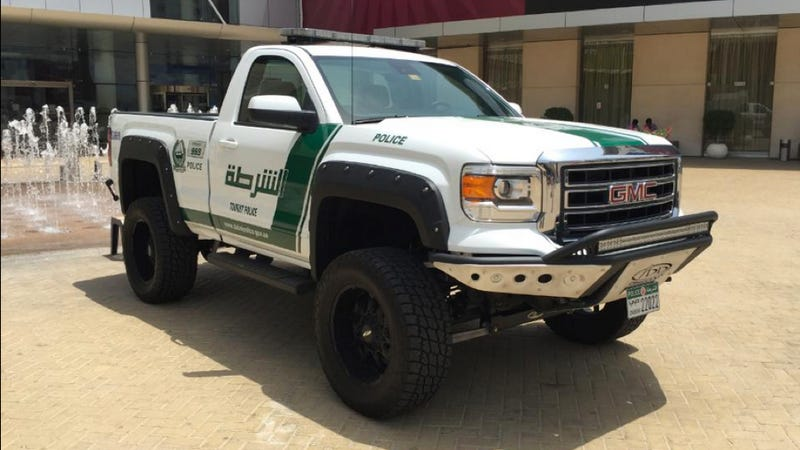 Illustration for article titled Dubai Police Have A Sweet New Dune-Stomping 'Work Truck'