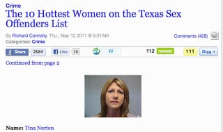 """Illustration for article titled Paper Pseudo-Apologizes For """"Hottest Female Sex Offenders"""""""