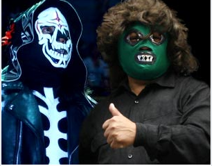 Illustration for article titled A Mexican Murder Mystery Featuring Masked Mini-Wrestlers A Roving Gang Of Hookers And Perez Hilton