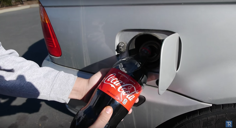 Here Is What Happens When You Fill A Car's Gas Tank With Coke