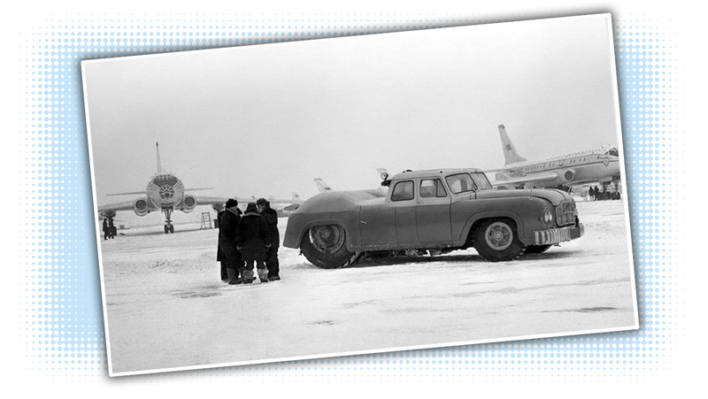 This Old Soviet Airport Car Was Probably The Biggest Sedan In The World