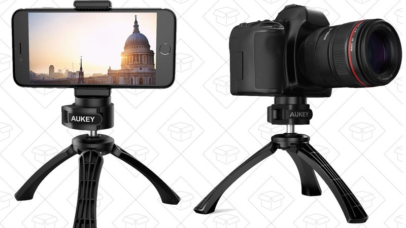 Aukey Mini Tripod, $10 with code A2TRIPOD | Aukey 2-Pack Smartphone Tripod Adapters, $6 with code AU2MOUNT