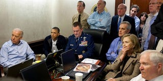 Obama in the Situation Room watching the bin Laden raid (White House Flickr)