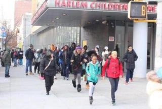Students from the Harlem Children's Zone on their way to see the movie SelmaAnne Williams-Isom via Twitter
