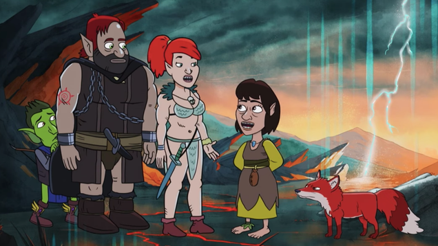 Kate Micucci desperately tries to fit in with the rest of HarmonQuest in this exclusive