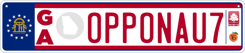 Illustration for article titled Reimagining US License Plates as Euro Plates - Georgia (4/50)