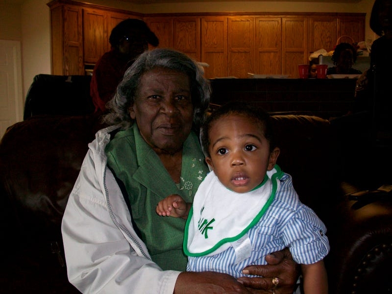 Mamie Murray Butts holding Lawrence Ware Jr. (courtesy of Lawrence Ware Sr.)
