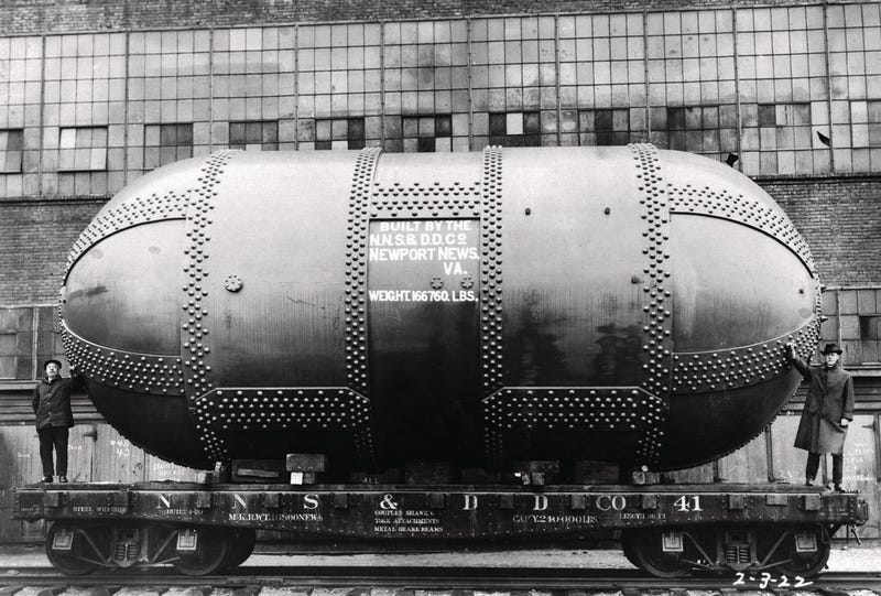 Un túnel de densidad variable, precursor de los actuales túneles de viento, en 1922. Foto: NACA