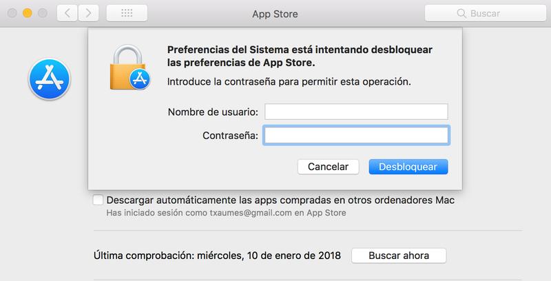 Illustration for article titled Un nuevo fallo de Mac OS High Sierra permite desbloquear las preferencias de App Store con cualquier contraseña