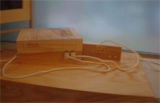 Illustration for article titled One Day This Wooden NES Will Be a Real Little Boy