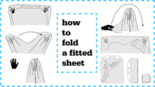 Illustration for article titled ​Sorcery And Witchcraft: How To Fold A Fitted Sheet