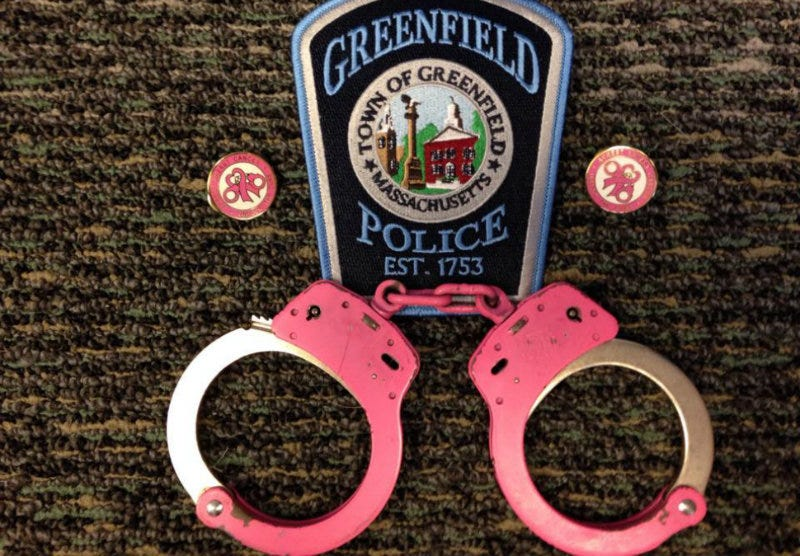 Illustration for article titled Massachusetts Police Force Will Use Pink Handcuffs for 'Breast Cancer Awareness'