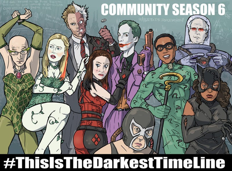 Illustration for article titled And now, the cast of Community as Batman villains