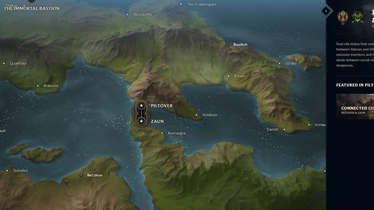 League Of Legends\' Lore Finally Has A Proper World Map