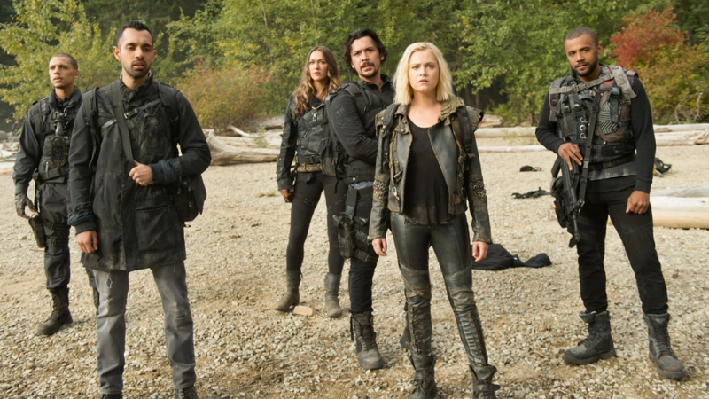 The cast of The 100.