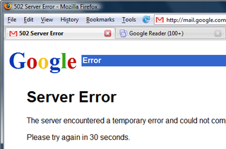 Illustration for article titled Gmail Outage Lasts Two and a Half Hours