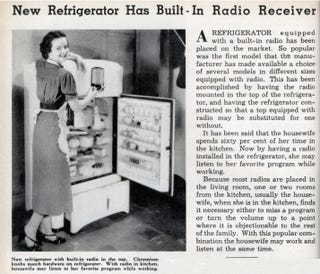 Illustration for article titled The 1930s Refrigerator-Radio Combo That Never Quite Took Off
