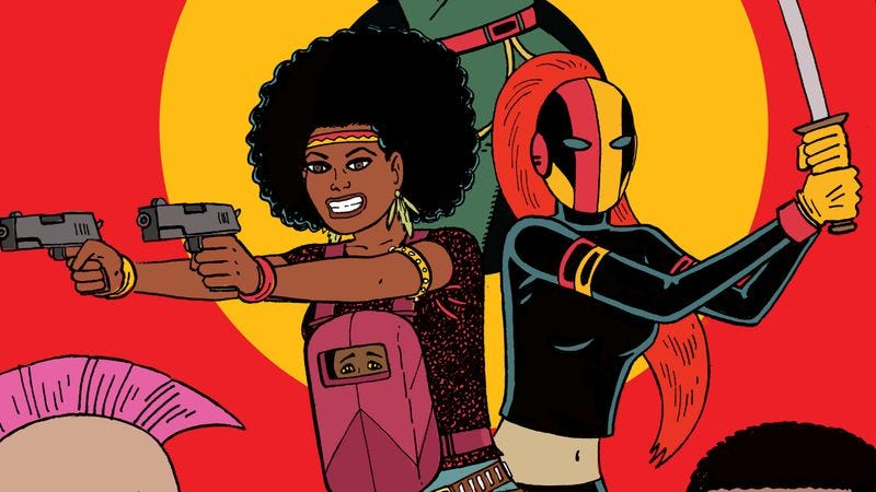 Illustration for article titled Howard & Hernandez's Assassinistas open fire in this Black Crown exclusive