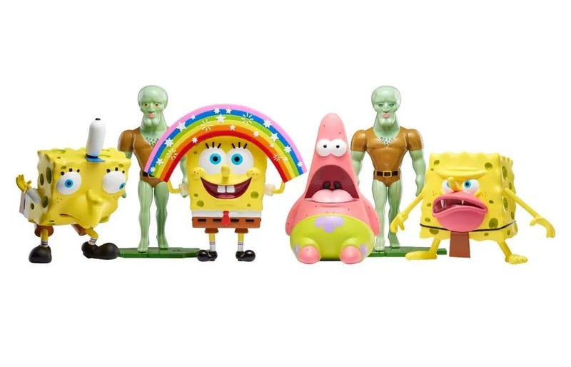 Illustration for article titled Nickelodeon Releases Official Spongebob Meme Figures