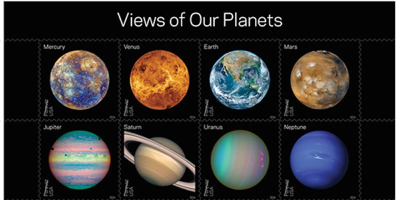 Illustration for article titled These New Space Stamps Are Almost Cool Enough toMake Me Want to Send a Letter