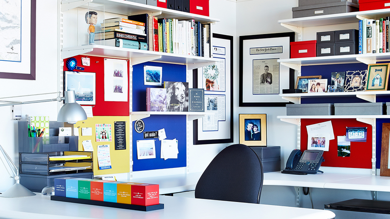 Kip Tindell, Founder And CEO Of The Container Store, Has A Workspace That  Unsurprisingly Features Lots Of Organization Products, From Shelving  Systems To ...