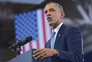 President Barack Obama speaks at MacGavock High School in Nashville, Tenn.MANDEL NGAN/AFP/Getty Images