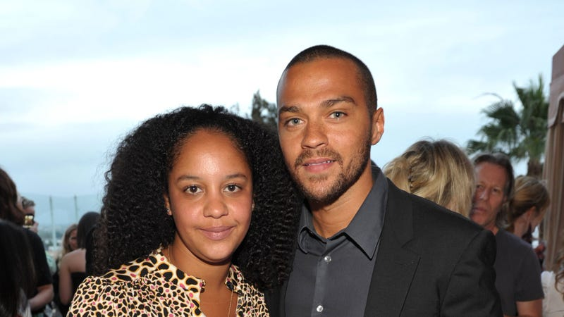 "Actor Jesse Williams (R) and Aryn Drake-Lee attend the ""GQ, Nautica, and Oceana World Oceans Day Party"" on June 8, 2010 in West Hollywood, California."
