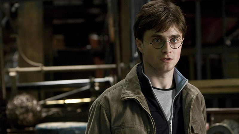 Radcliffe in his final outing as Harry in The Deathly Hallows Part 2.