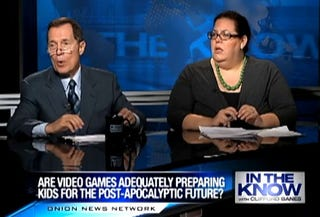 Illustration for article titled The Onion Asks: Are Violent Video Games Adequately Preparing Our Kids For The Apocalypse?