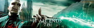 Illustration for article titled Harry Potter and the Deathly Hallows Part II Poster and Banners
