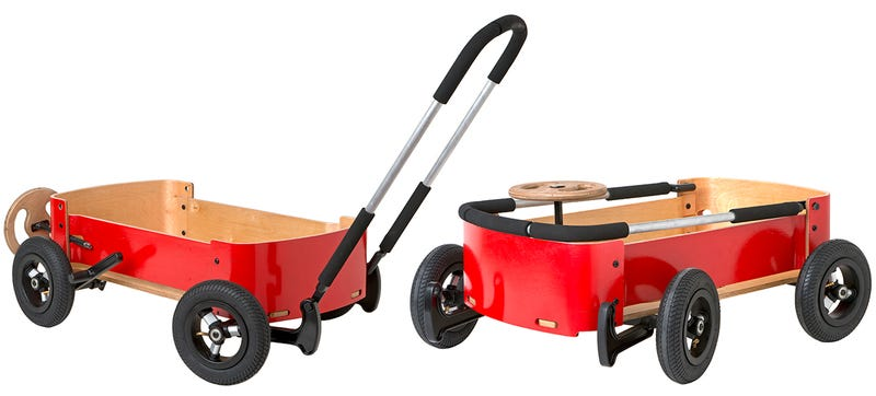 Illustration for article titled A Little Red Wagon That Transforms Into a Steerable Go-Kart