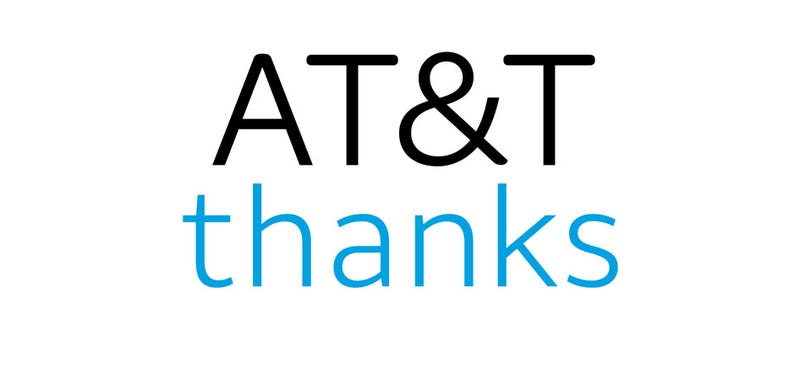 The logo for AT&T's new loyalty program AT&T Thanks