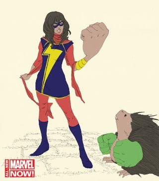 Illustration for article titled Meet the new Ms. Marvel, a shapeshifting Muslim teenager